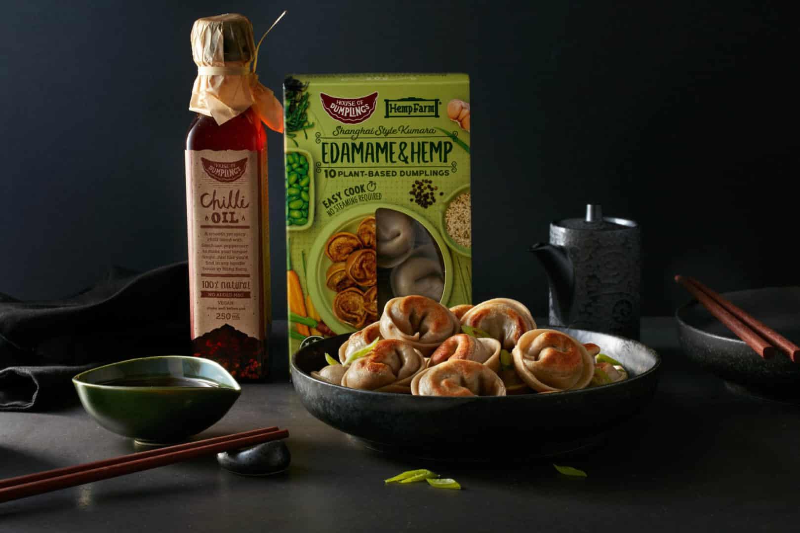Edamame & Hemp vegan dumpling